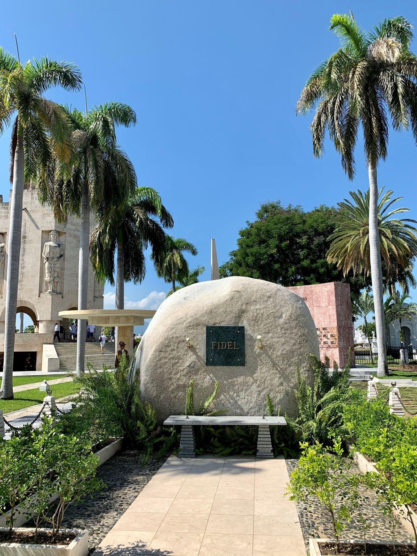 Das Grab von Fidel Castro in Santiagio de Cuba.